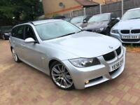 BMW 325d M SPORT DIESEL TOURING 2006(56) manual SAT NAV FULL LEATHER 1/p/OWNE...