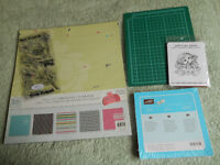 Card stamping stamps and paper, etc.