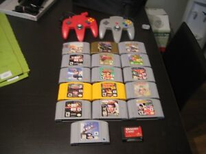 nintendo 64 games and controllers (prices vary)