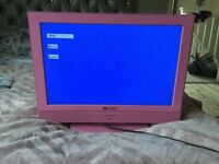 "19"" screen TV +DVD combo - Pink"