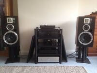 Wharfedale Laser 400 speakers with ribbon tweeters and upgraded crossovers (small Leak 3090 s!)