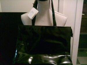 """Genuine Black Over The Shoulder """"Alfred Sung"""" Purse New With Tag"""