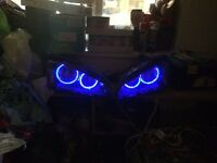 Ford Focus mk2 headlights rgb halos