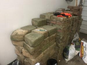 FREE concrete interlock and gardening bricks