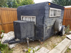 NEW PRICE - UTILITY TRAILER WITH CAMPER