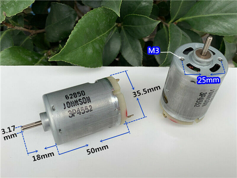 JOHNSON RS-540 DC3V-5V 23000RPM High Speed Large Touque Drill Tools Toy DC Motor
