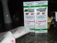 2 tickets for cascar race bownanville this weekend