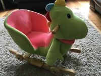 Kids dinosaur rocker and ride along with sound