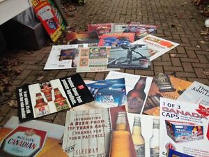 Top Beer Ads Cardboard Weight Posters avail... London Ontario image 3