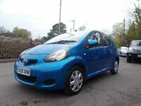 Toyota AYGO 1.0 VVT-i Blue 5dr IDEAL FIRST CAR LOW INSURANCE (blue) 2009