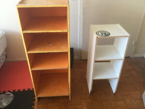 Two book shelving