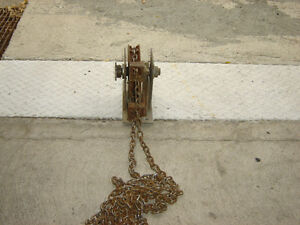 $100 · Two chain hoist pulleys with chains in good working order Regina Regina Area image 6