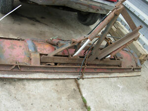 Beat up rusted out old SNOW PLOW