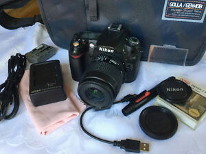 Nikon D90 DSLR with Nikon Nikkor 35-80mm AF zoom and accessories