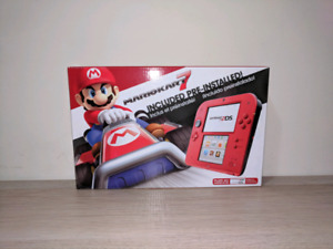 Nintendo 2DS (Red), Smatree N98 2DS Case + 10 Games!