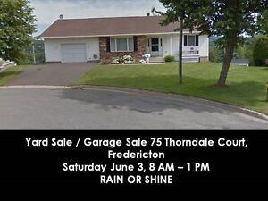 Large Yard Sale / Garage Sale 75 Thorndale Court, Fredericton