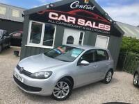 VOLKSWAGEN GOLF 1.6TDI ( 105ps) AUTOMATIC 5 DOOR MATCH LOW MILES FINANCE PARTX