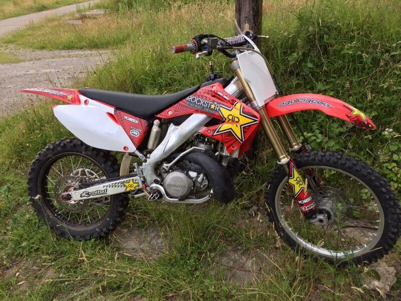 Honda Cr 250 R Motocross Yz Bike Mx Sx Two Stroke Motorcycle In