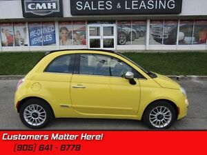 2012 Fiat 500c Lounge   POWER SOFTTOP, CLIMATE CONTROL, BLUETOOT