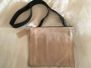 Danier Beige Leather Crossbody Purse