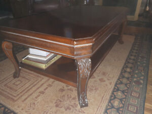 gorgeous wood coffee table