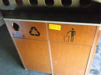 Waste Receptacle for Garbage and Recyclables #1152-14