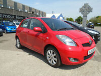2011 (11) TOYOTA YARIS 1.4 D-4D T SPIRIT Manual Red 5 Doors FSH