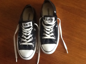 New Black Sequin ALL-STAR Converse Sneakers