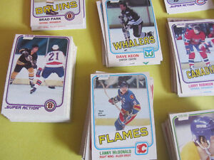 345 different 1981-82 OPC hockey cards in nice condition