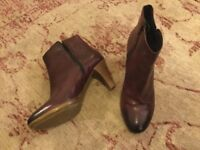 Vintage style beautiful soft leather Jones the Bootmaker ankle boots