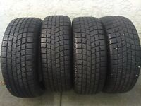 Set of four 195/55/15 winter tires for sale, awesome shape