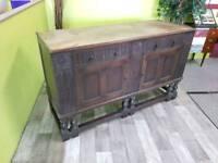 Antique Solid Oak Sideboard - Can Deliver For £19