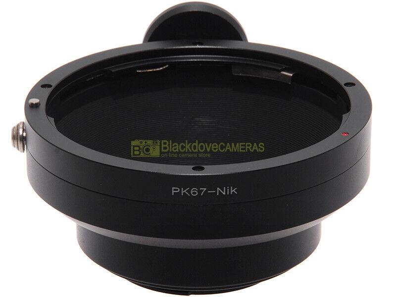 Nikon adapter x montare obiettivi Pentax 67 su corpi Nikon. Digitale e analogico
