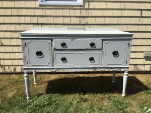 Antique Buffet and China Cabinet