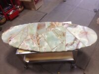 Superbe Dessus de Table en Marbre - Superb Solid Marble Table