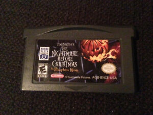 Nightmare before Christmas Gameboy Advance game