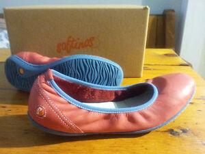 Softinos Womens Odelia Leather Shoes Size 39 EU