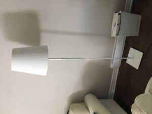 Floor Lamp for sale. About 5 feet 7 inches high. White in colour