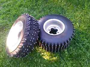 Atv ice tires AT20X6-10 FR 18X9.50-8 rear