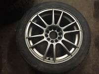 "17"" Rims with Winter Tires, 5x114.3, 38 offset, 8jj"