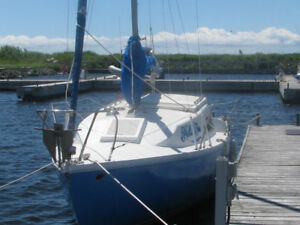 Grampian 23 Day sailor with Honda outboard 75, and trailer+Slip