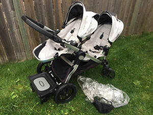 city select double stroller with glider board & car seat adapter