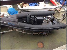 Stealth osprey xr 18 rib boat