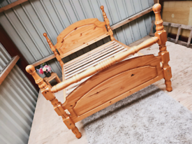 Beautiful pine double bed