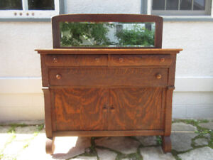 Antique (c1920) Sideboard with Beveled Mirror -Great Condition!