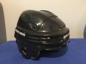 figure skate and helmet