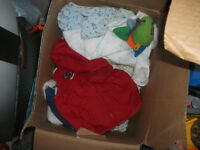 small box of clothes