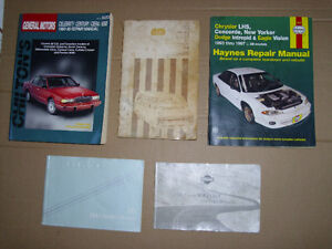 FIVE DIFFERENT OWNERS MANUALS & REPAIR BOOKS