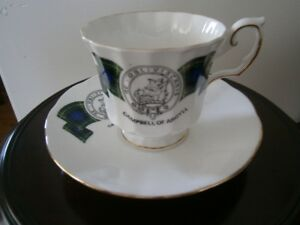 'CAMPBELL OF ARGYLL' CUP AND SAUCER SET