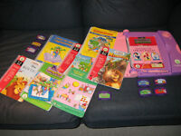 Leap Pad avec 8 livres et cassettes (en parfaite condition)